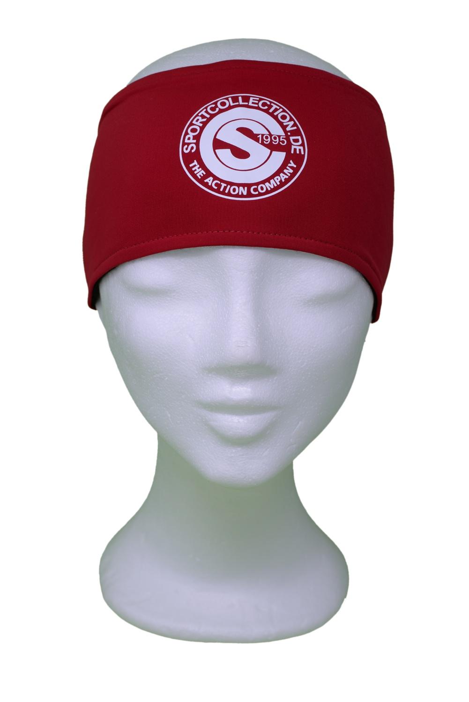 Stöhr Stirnband Rot-Weiß-Logo