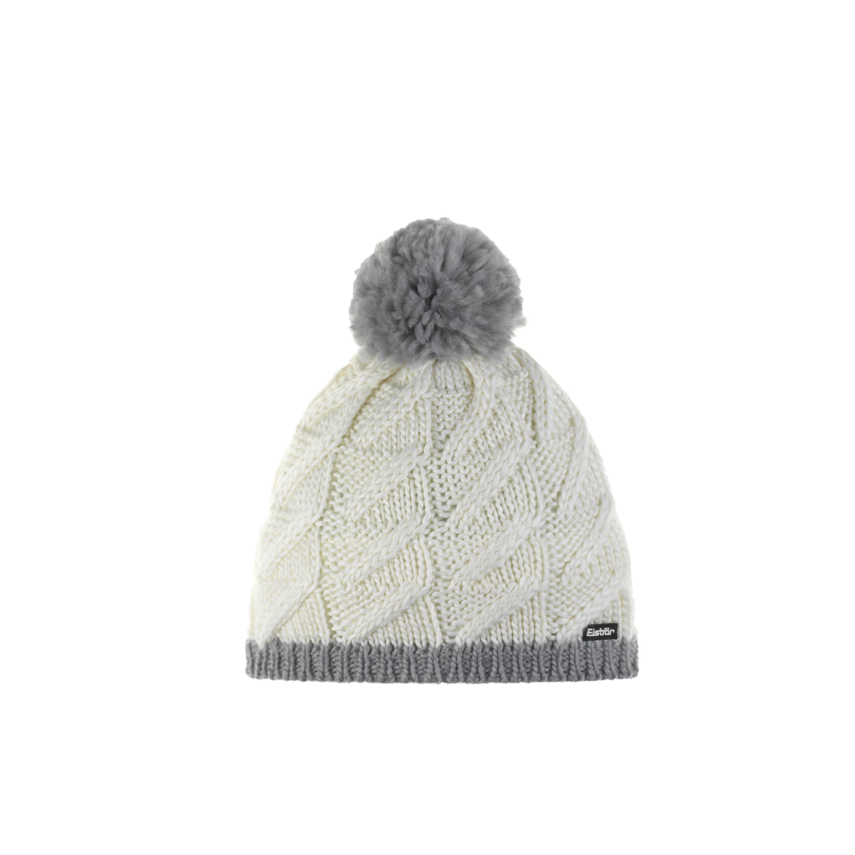 Eisbär Asteria Pompon Mütze - weiß