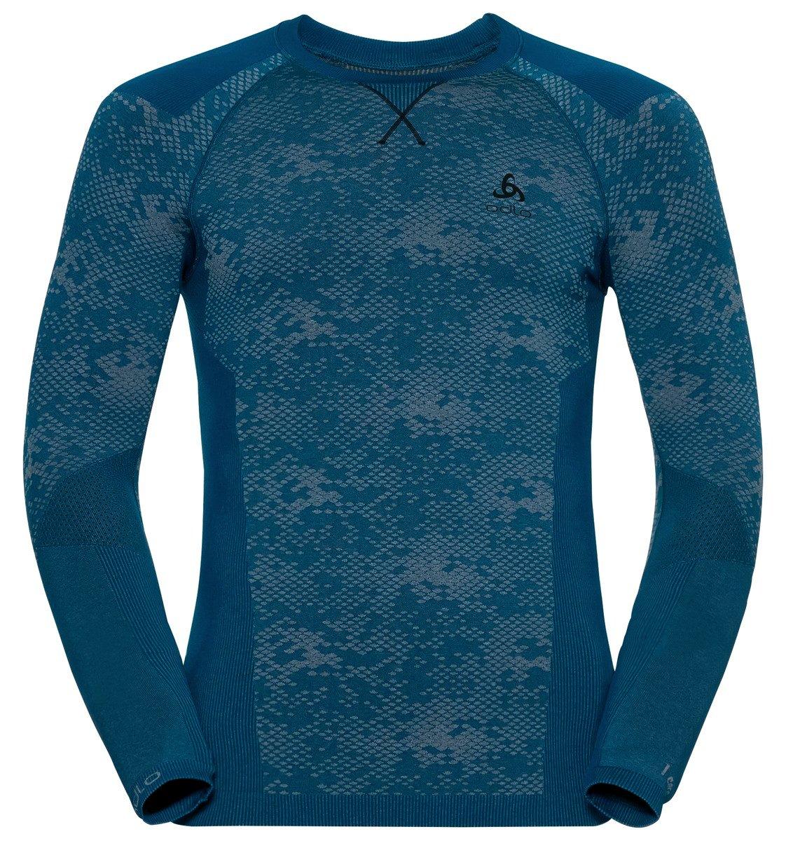 Odlo BLACKCOMP Evolution Warm Baselayer Shirt - blau