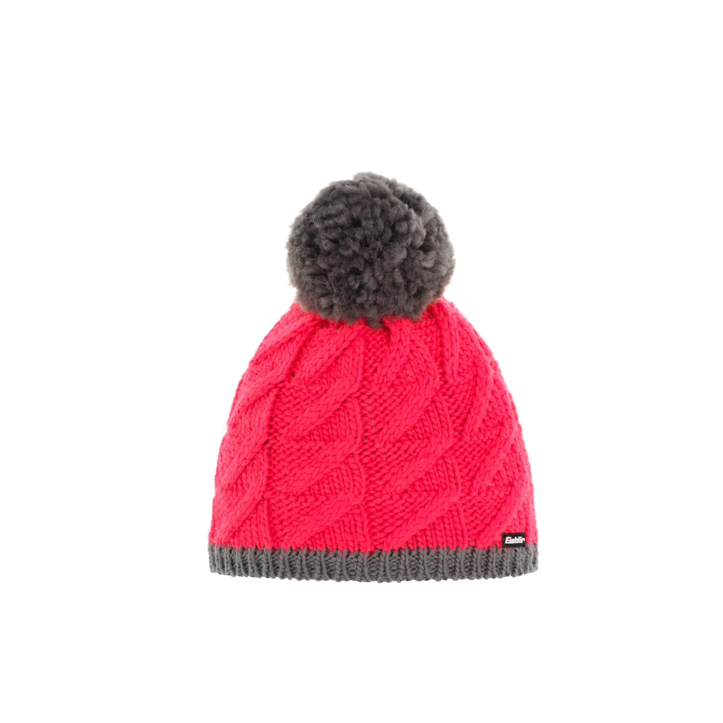 Eisbär Asteria Pompon Mütze - rot