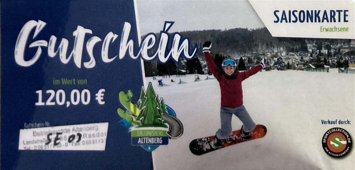 Gutschein 010 Altenberg Skilift Saisonkarte  Erwachsene