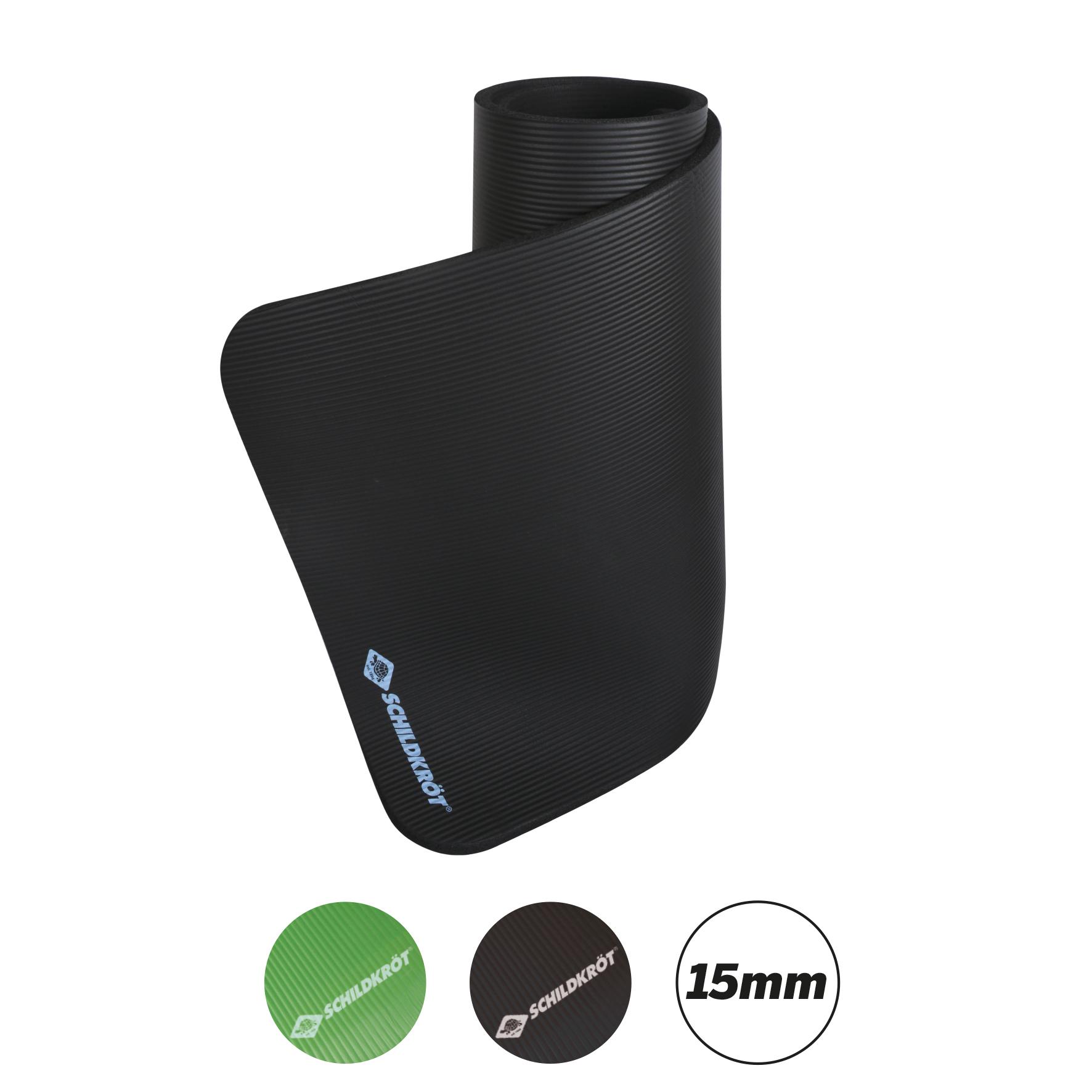 Fitnessmatte, 15 mm, mit Tragegurt