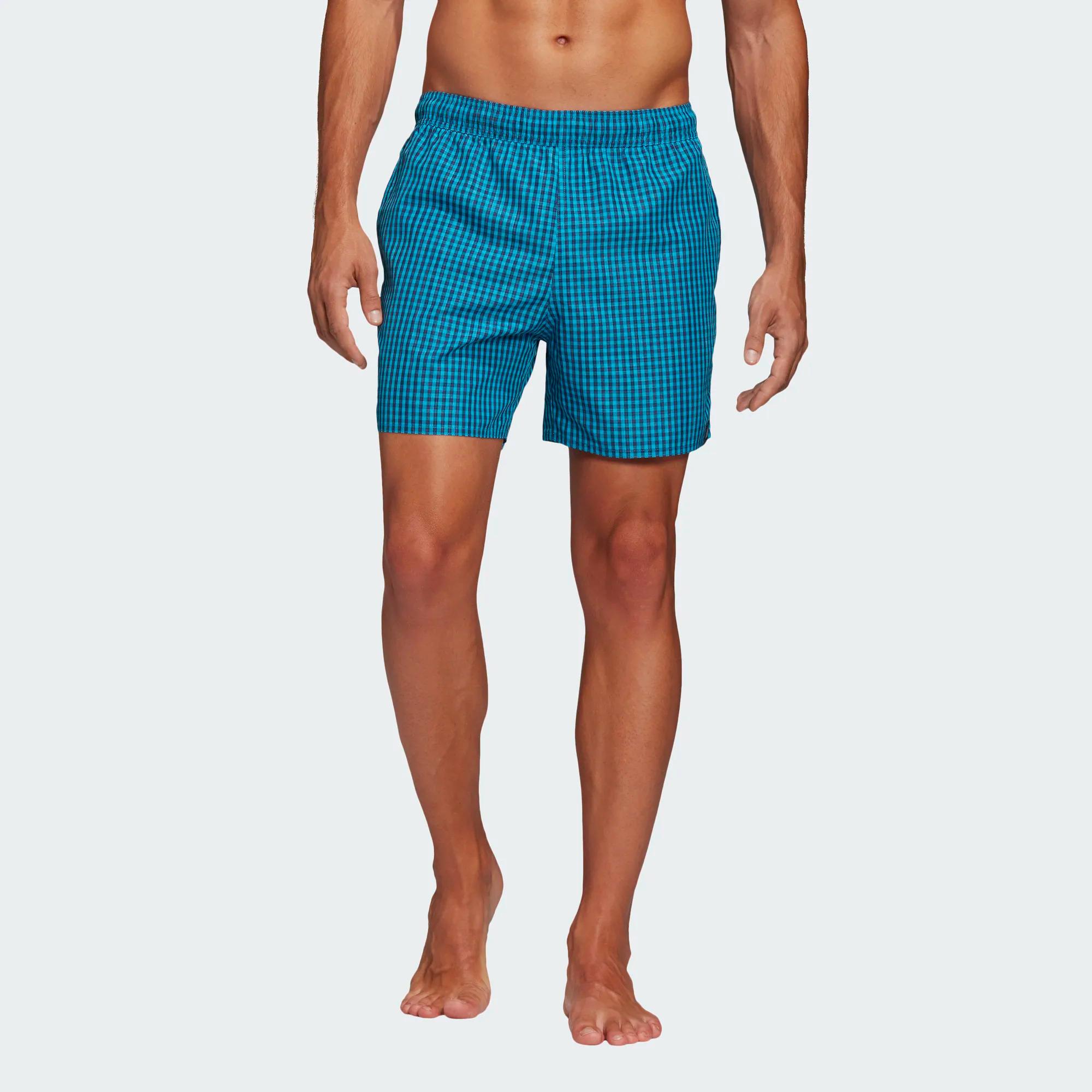 Adidas Check CLX Badeshorts - blau