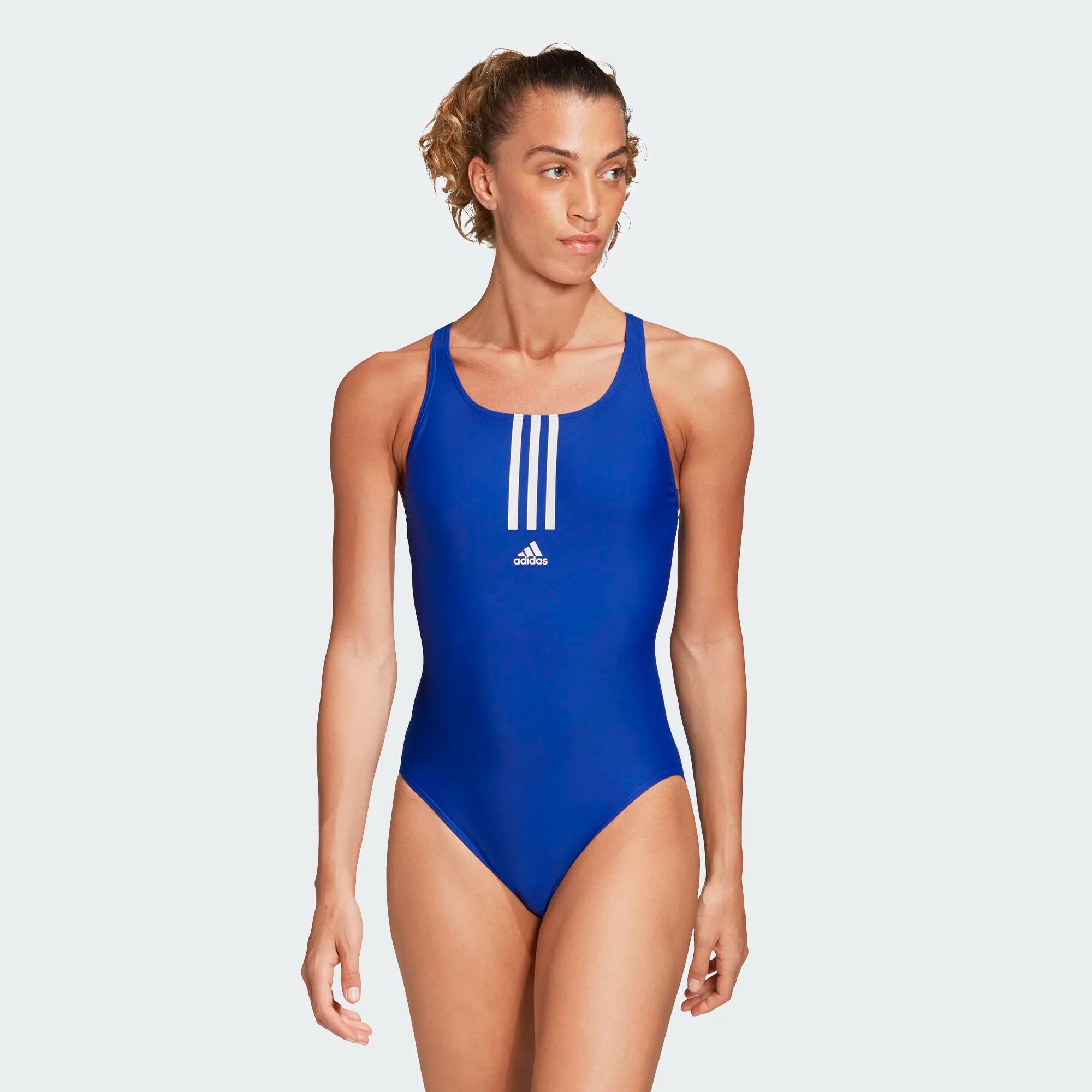 Adidas SH3.RO Mid 3-Streifen Badeanzug - blau/weiß
