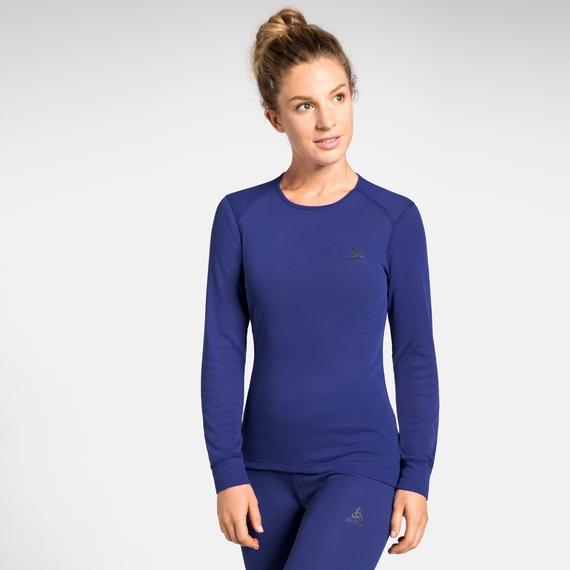 Odlo ACTIVE WARM Damen Funktionsunterwäsche Langarm-Shirt - blau