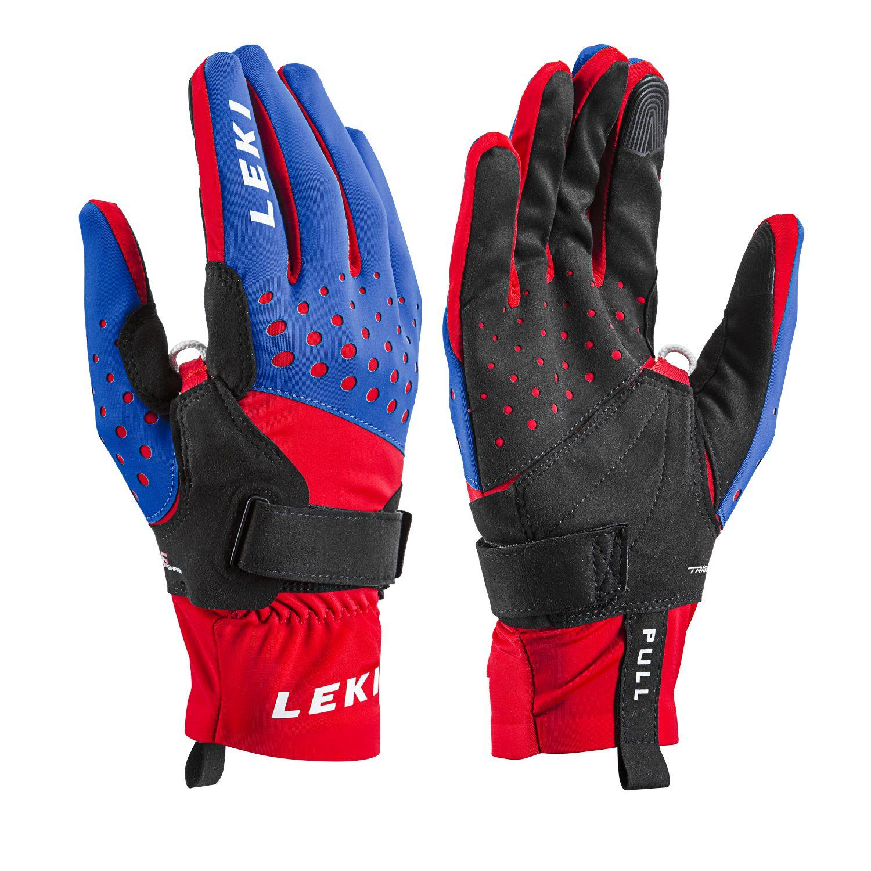 LEKI Nordic Race Shark Handschuhe - rot blau