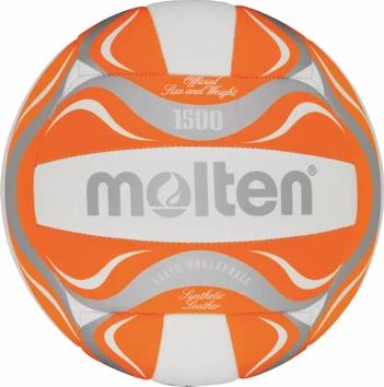 Molten Freizeit Beachvolleyball -  orange/weiß/silber