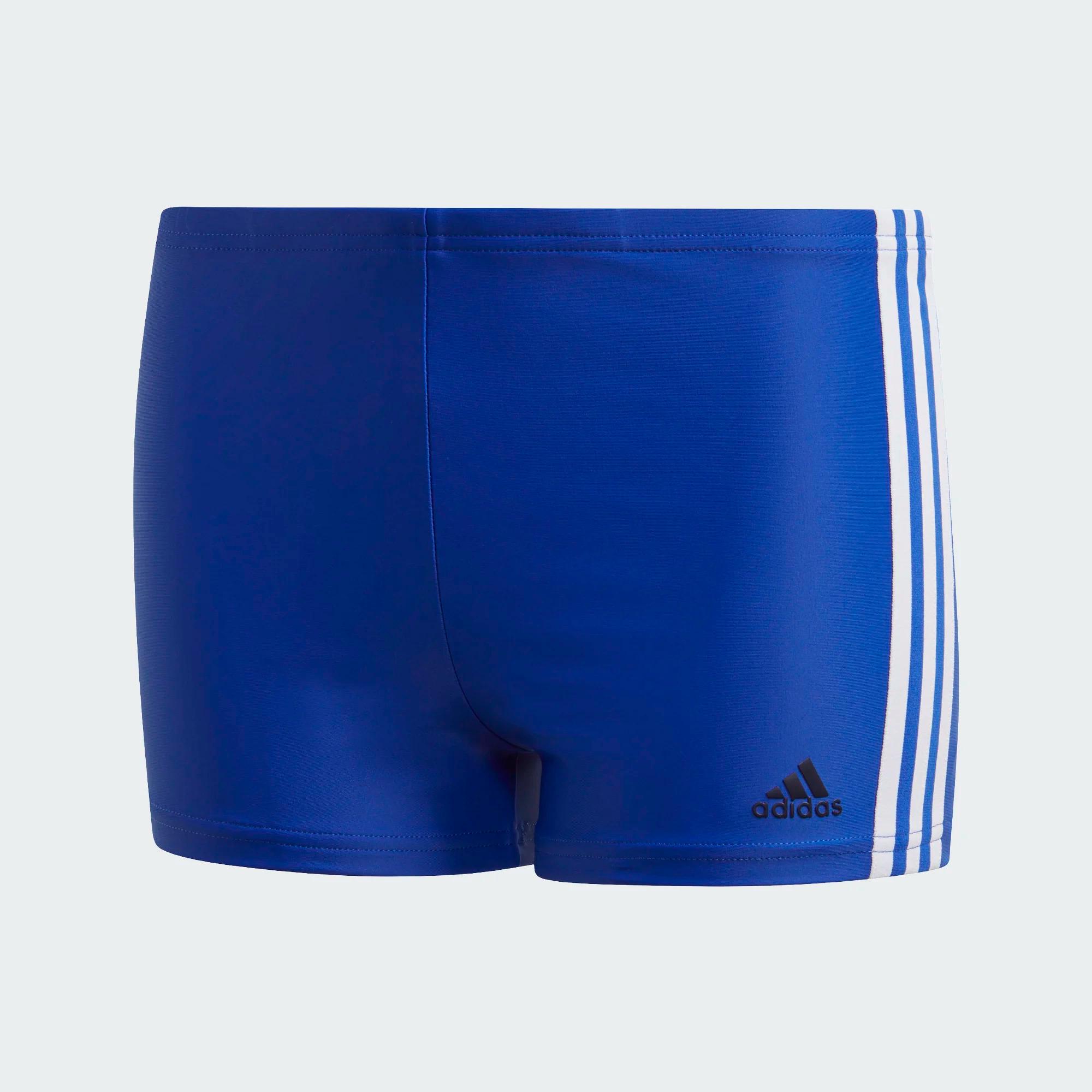Adidas 3-Streifen Boxer-Badehose - blau/weiß