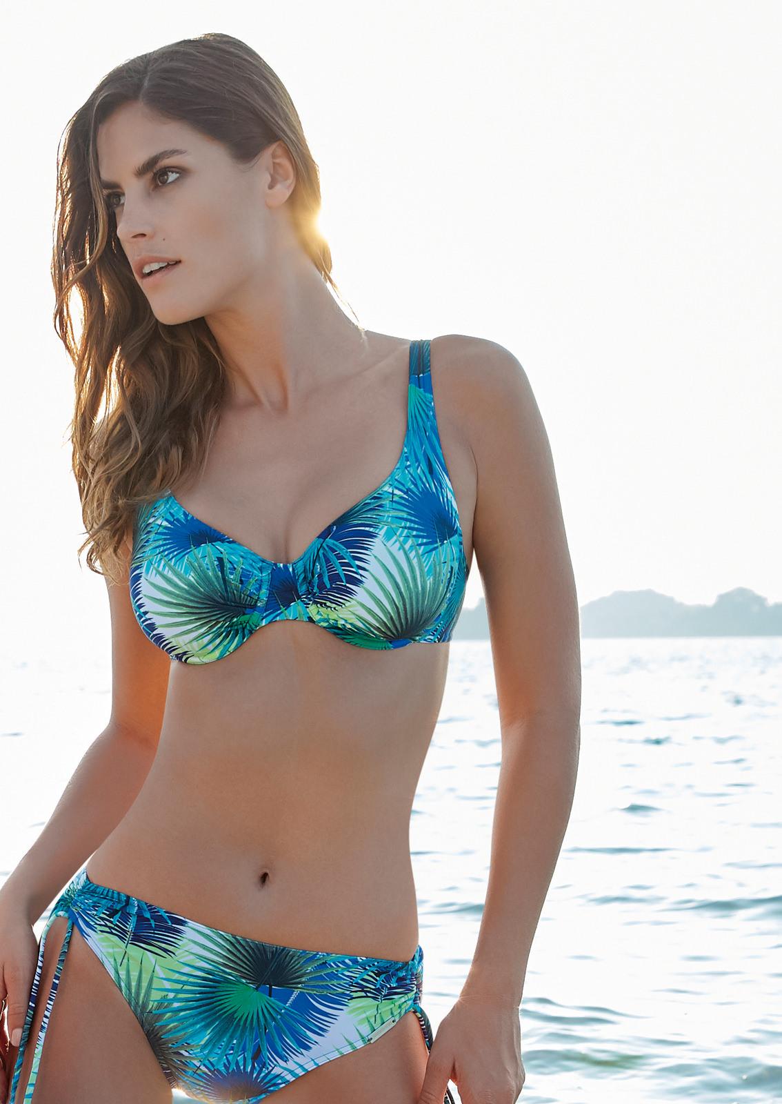 Sunmarin Bikini Blue Leaves