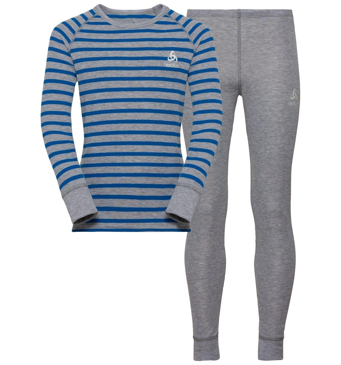 Odlo ACTIVE WARM KIDS Funktionsunterwäsche Set - grau/blau