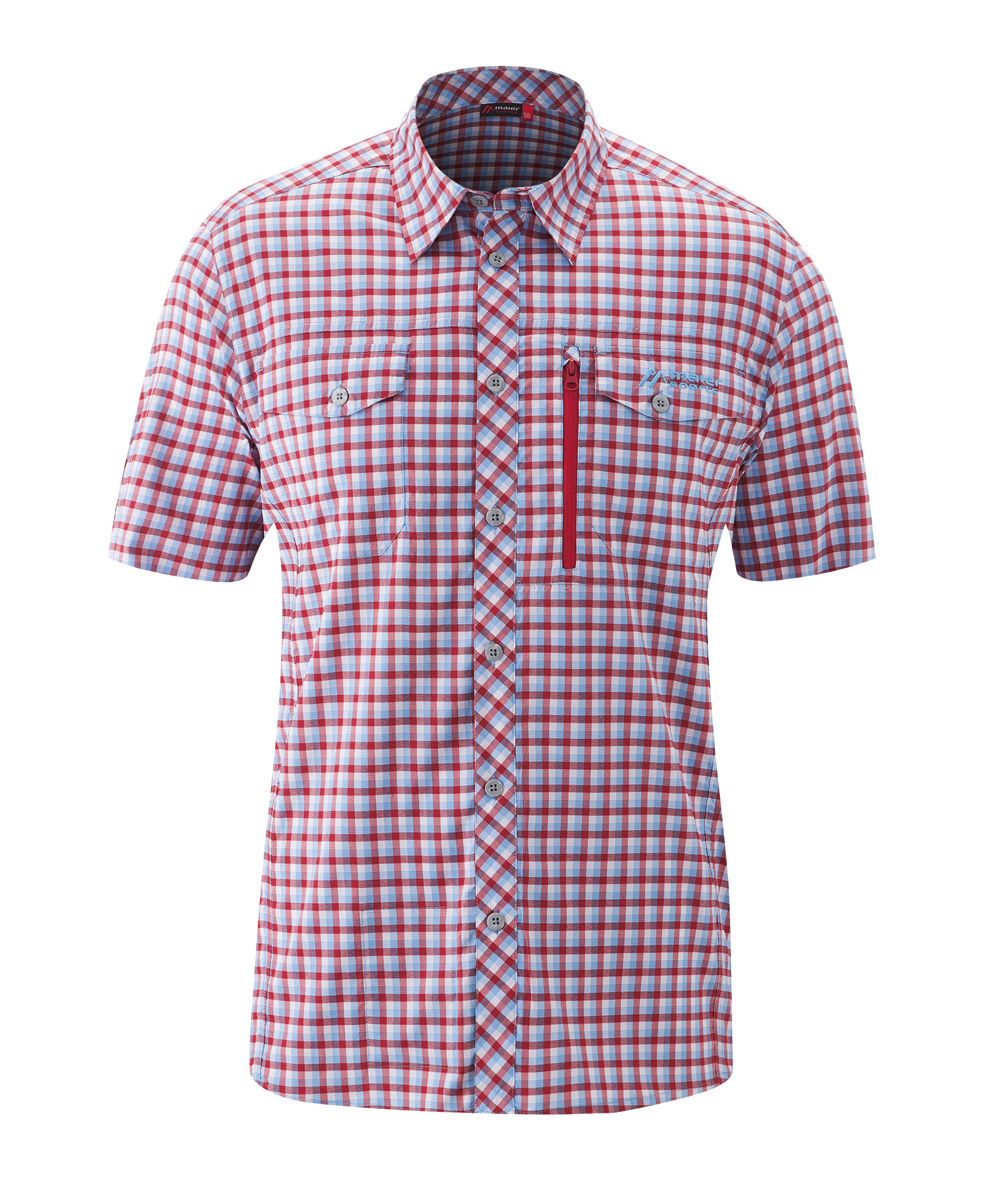 Maier Sports Funktionshemd Peyo S/S - blue/red check