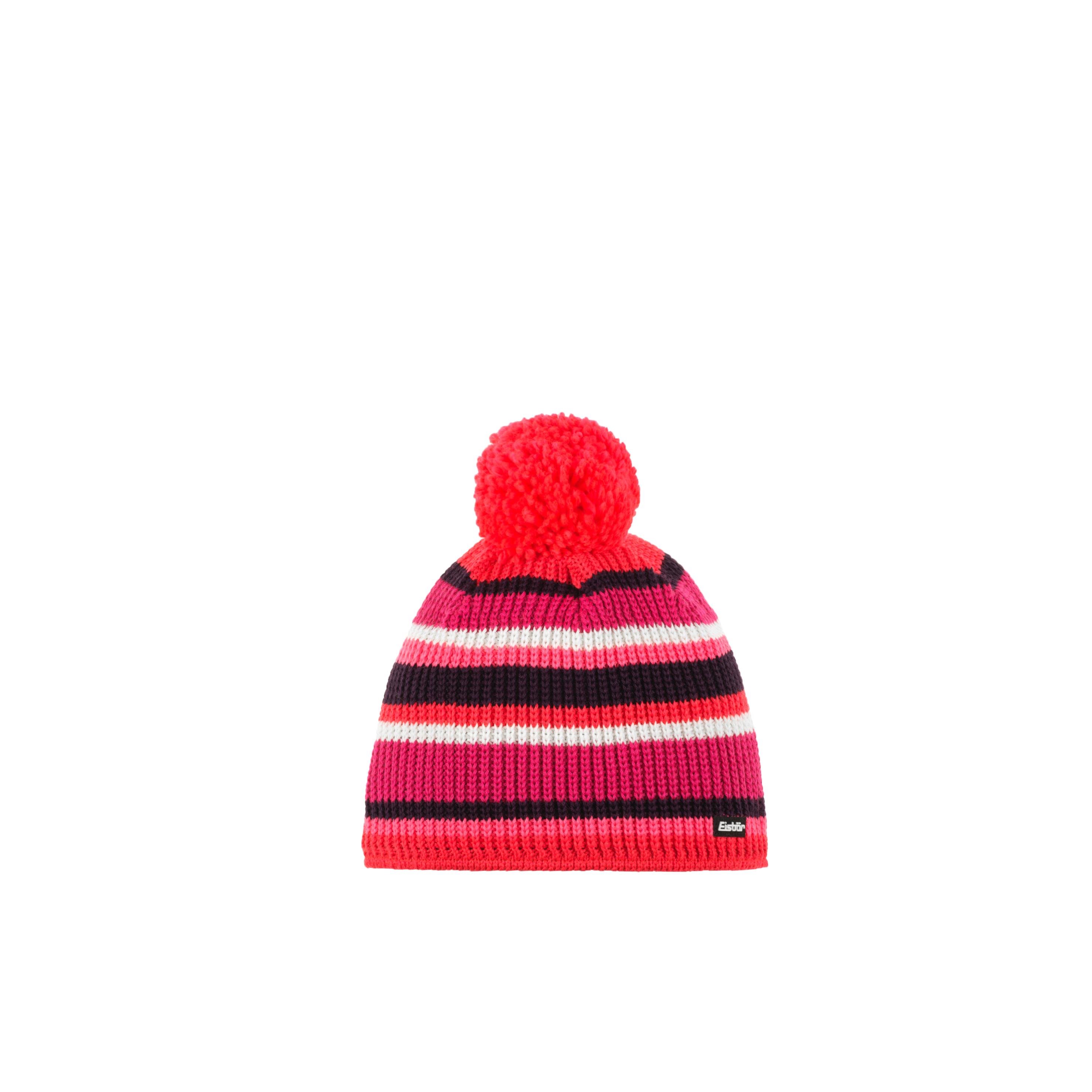 Eisbär Clip Pompon Mütze - rot