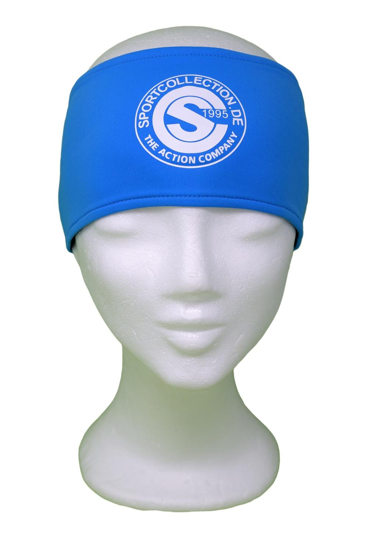 Stöhr Stirnband Blau-Weiß-Logo