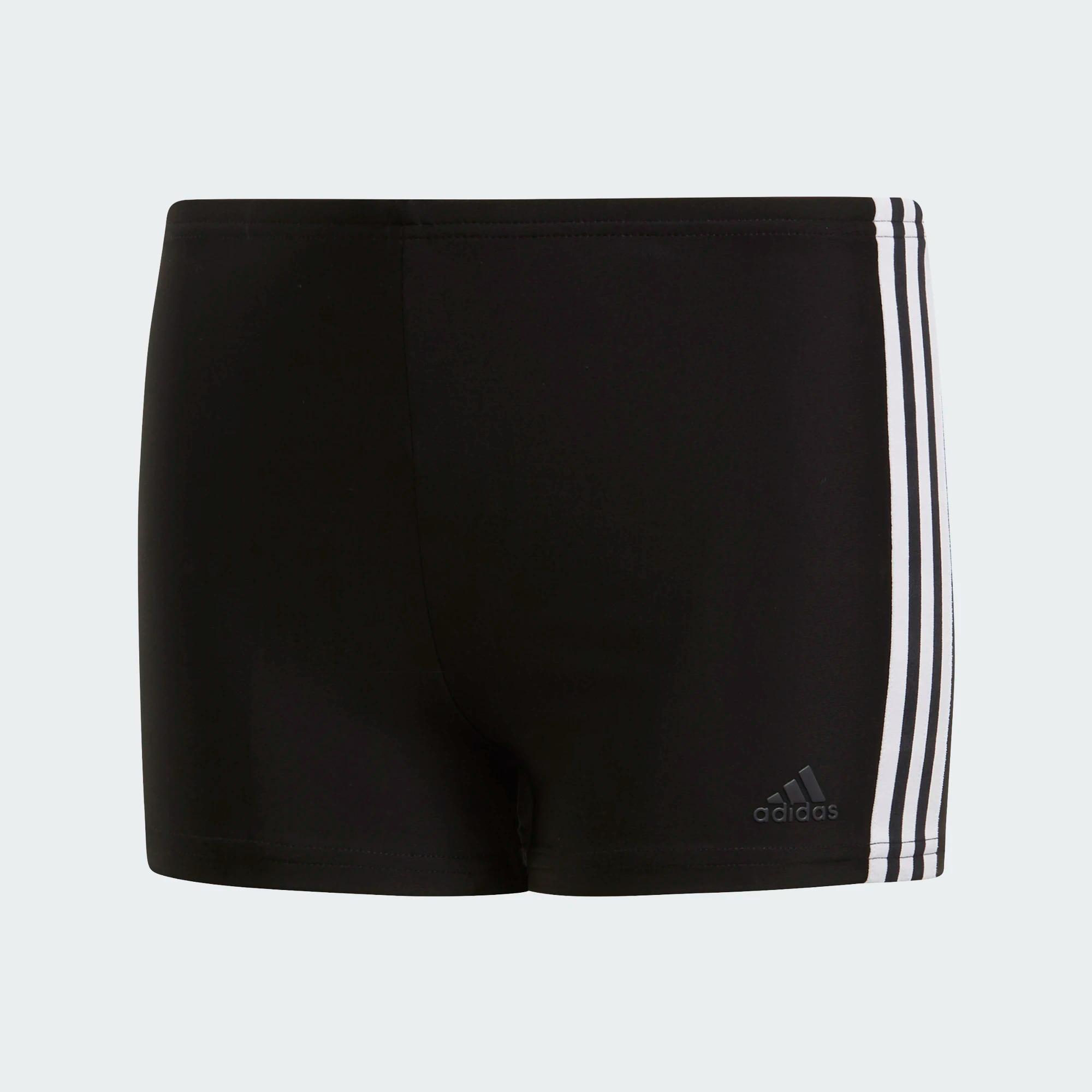 Adidas 3-Streifen Boxer-Badehose - schwarz/weiß
