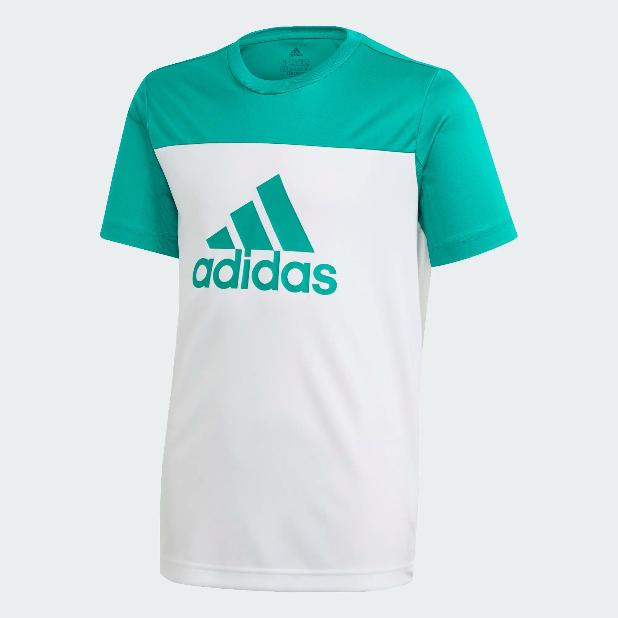Adidas Kinder T-Shirt Equip - weiß/grün