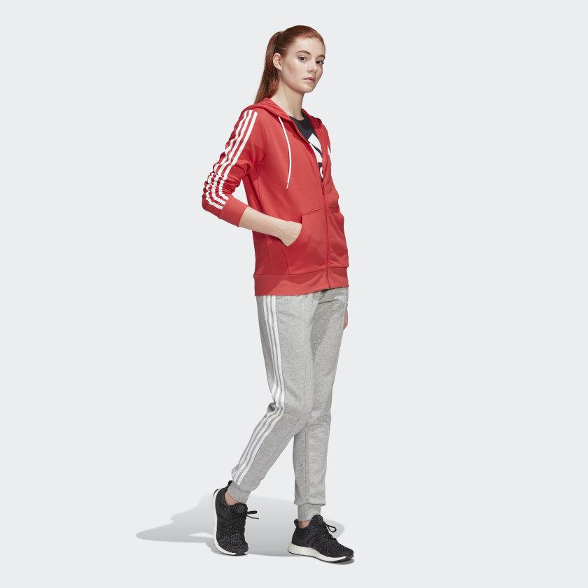 Adidas Energize Trainingsanzug Mädchen - rot/grau