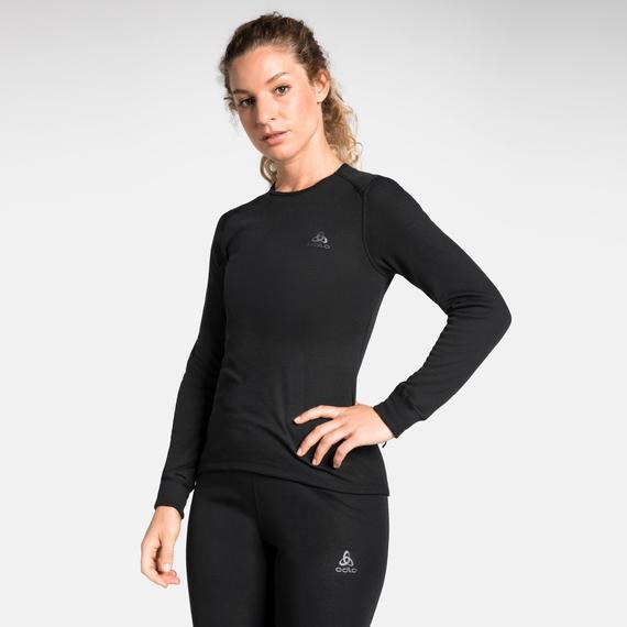 Odlo ACTIVE WARM Damen Funktionsunterwäsche Langarm-Shirt - schwarz